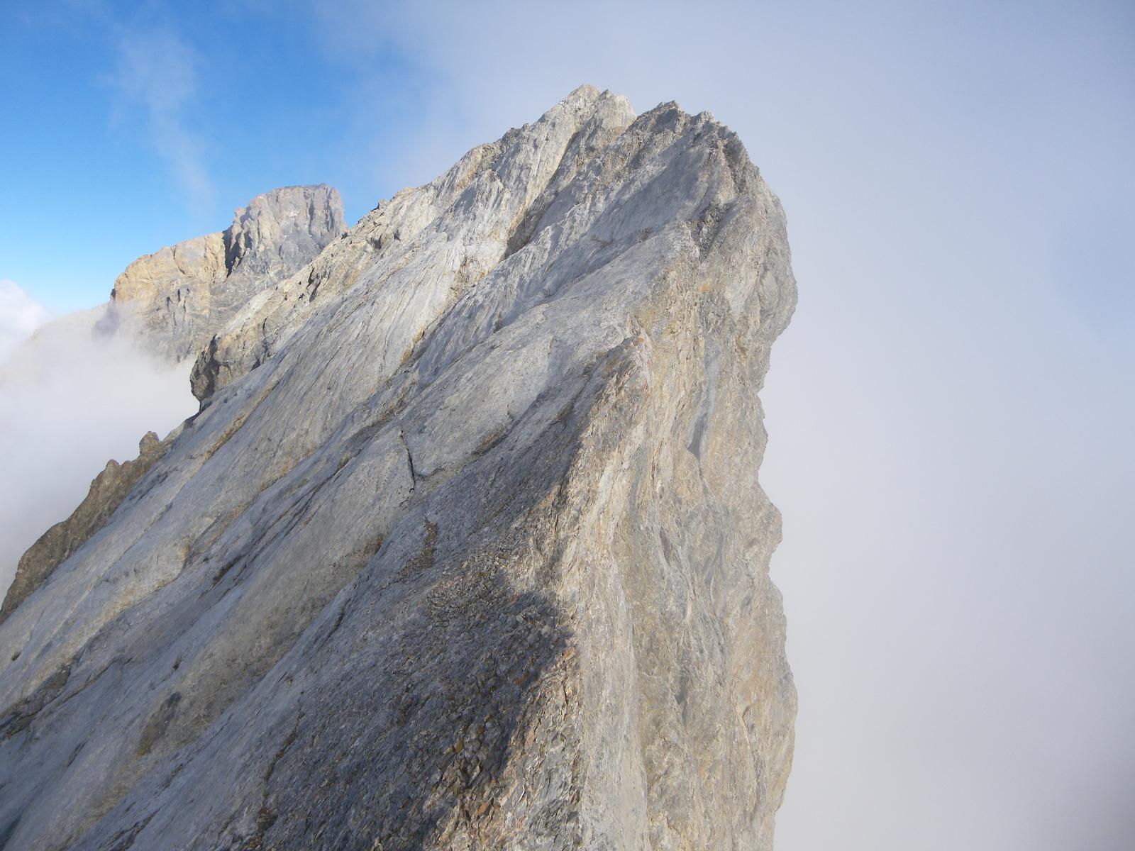 Il severo tratto roccioso del Pariàs Coupà