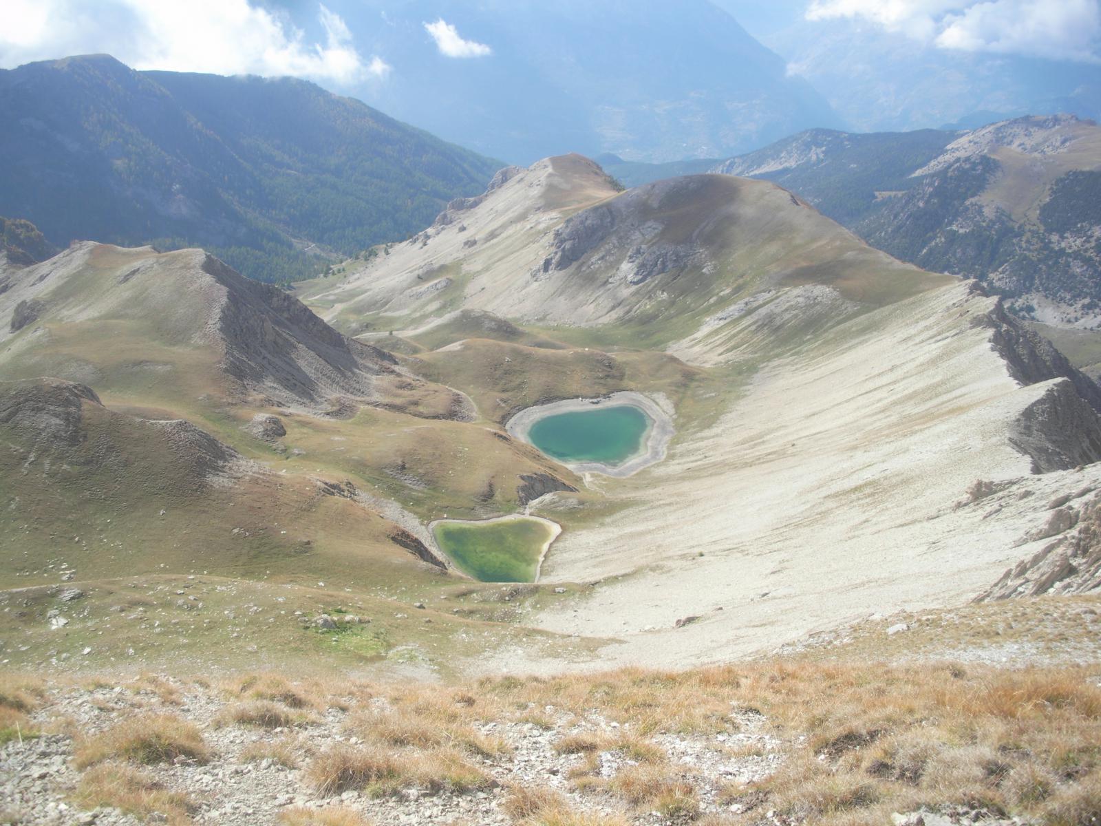 Le Lacs du Lauzet dalla crete de Cialanches