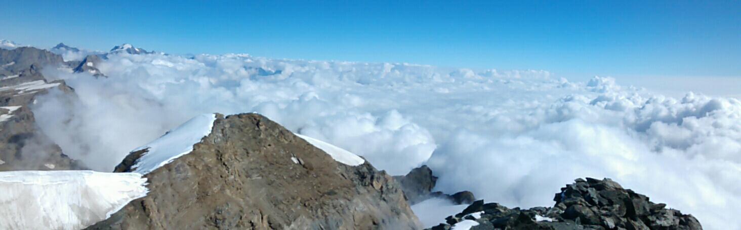 panorama dalla vetta verso nord