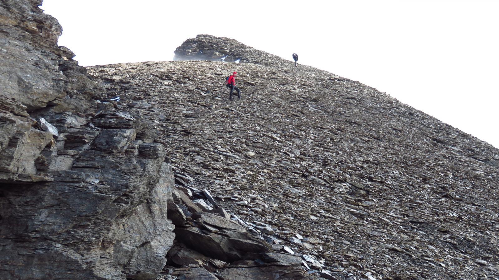 Davide e Fabio a pochi minuti dalla cima
