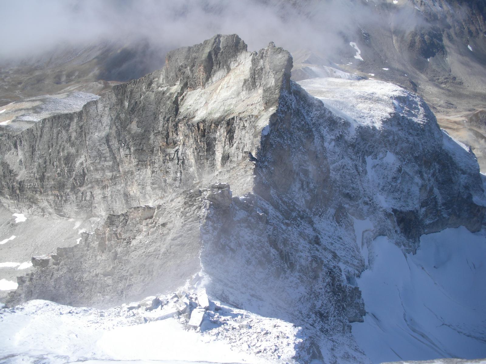 la montagna nella sua veste piu' severa..