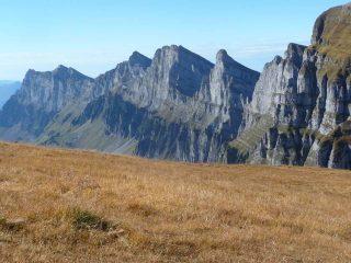 vista d'infilata sui Churfirsten dalla vetta del Rosenboden