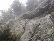 04 - breve tratto attrezzato del sentiero da Bar Cenisio al lago Arpone