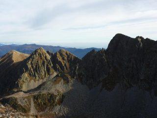 Rocca delle Novelle vista dalla Testa omonima