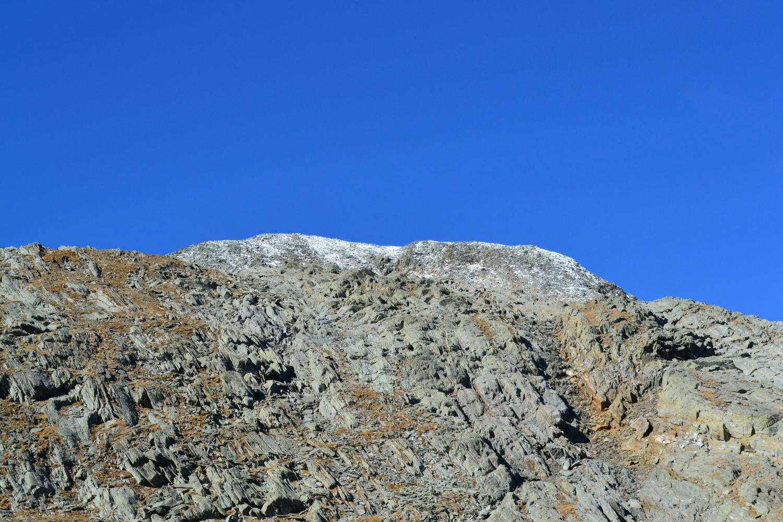 la cima tondeggiante del Galleggione vista dal passo