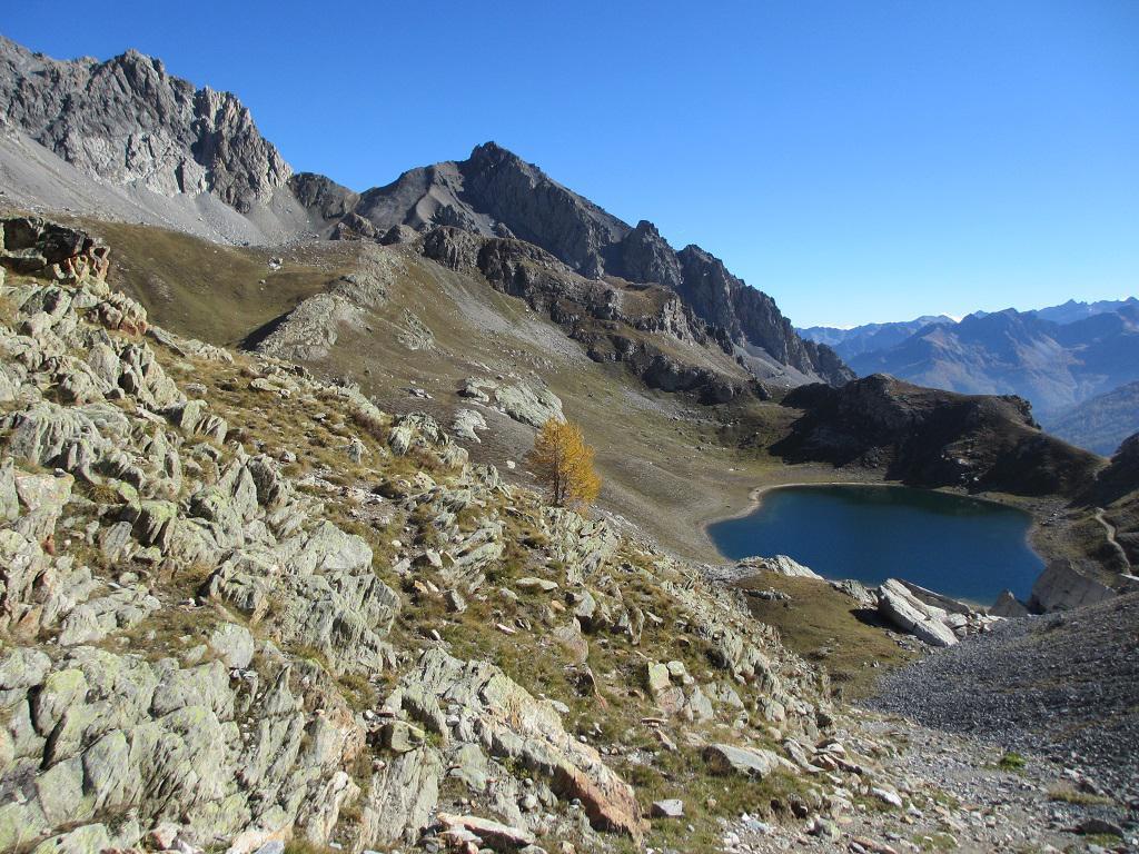 Vanclava (Monte) o Tète de Vauclave da Argentera per i Laghi di Roburent 2014-10-18