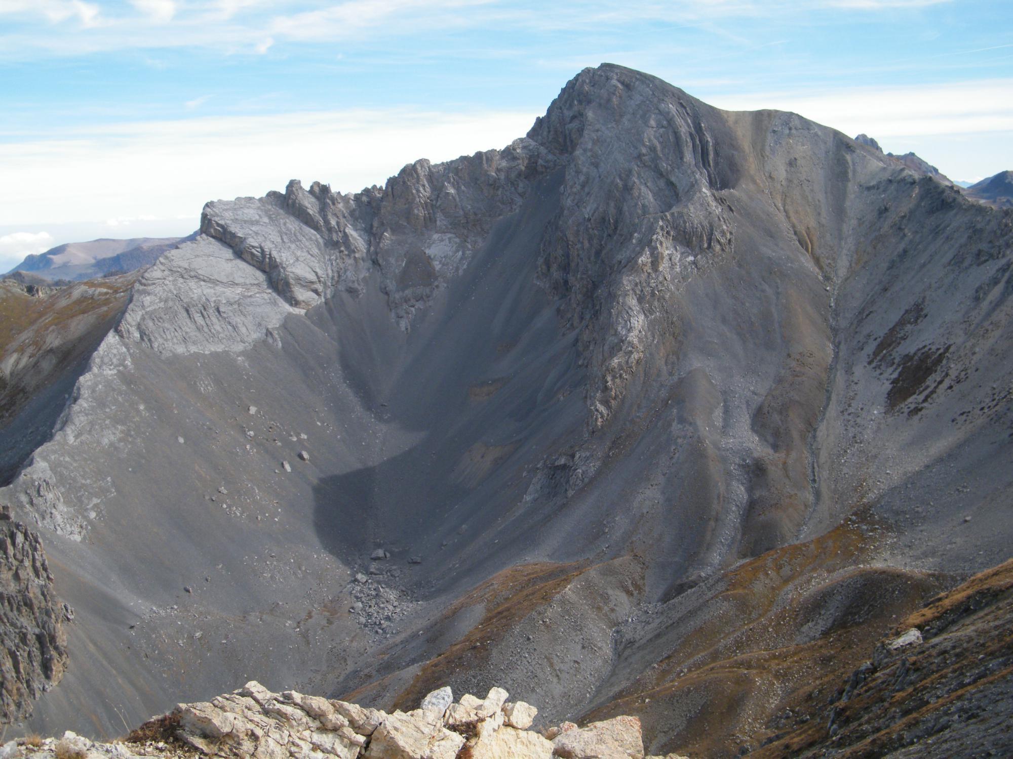 Cassorso (Monte), cima ovest da Viviere per il Passo della Gardetta 2014-10-19