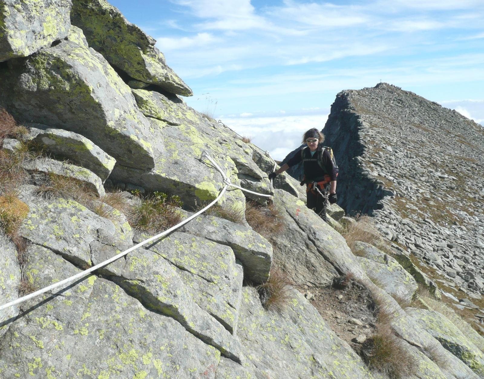prime corde fisse lungo la cresta nord-ovest