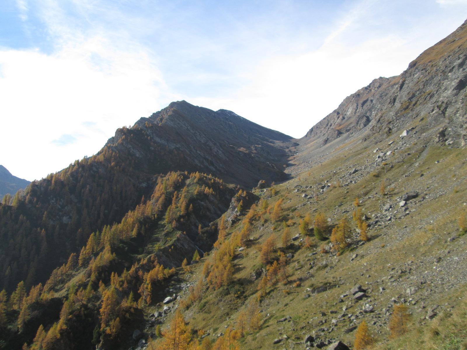 il vallone della Longia dal Passo della Bocchetta