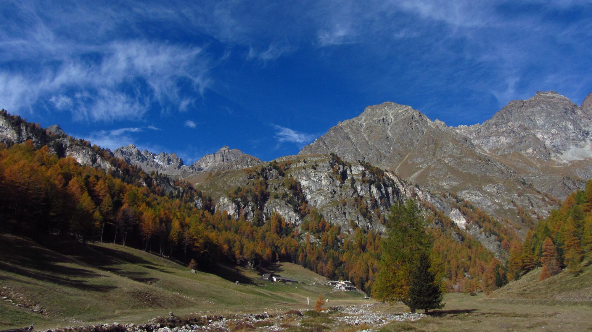 Uno sgurdo verso l'alpe La Servaz