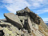 In secondo piano uno dei passaggi su roccia affrontati