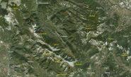 Monti Lepini dal satellite