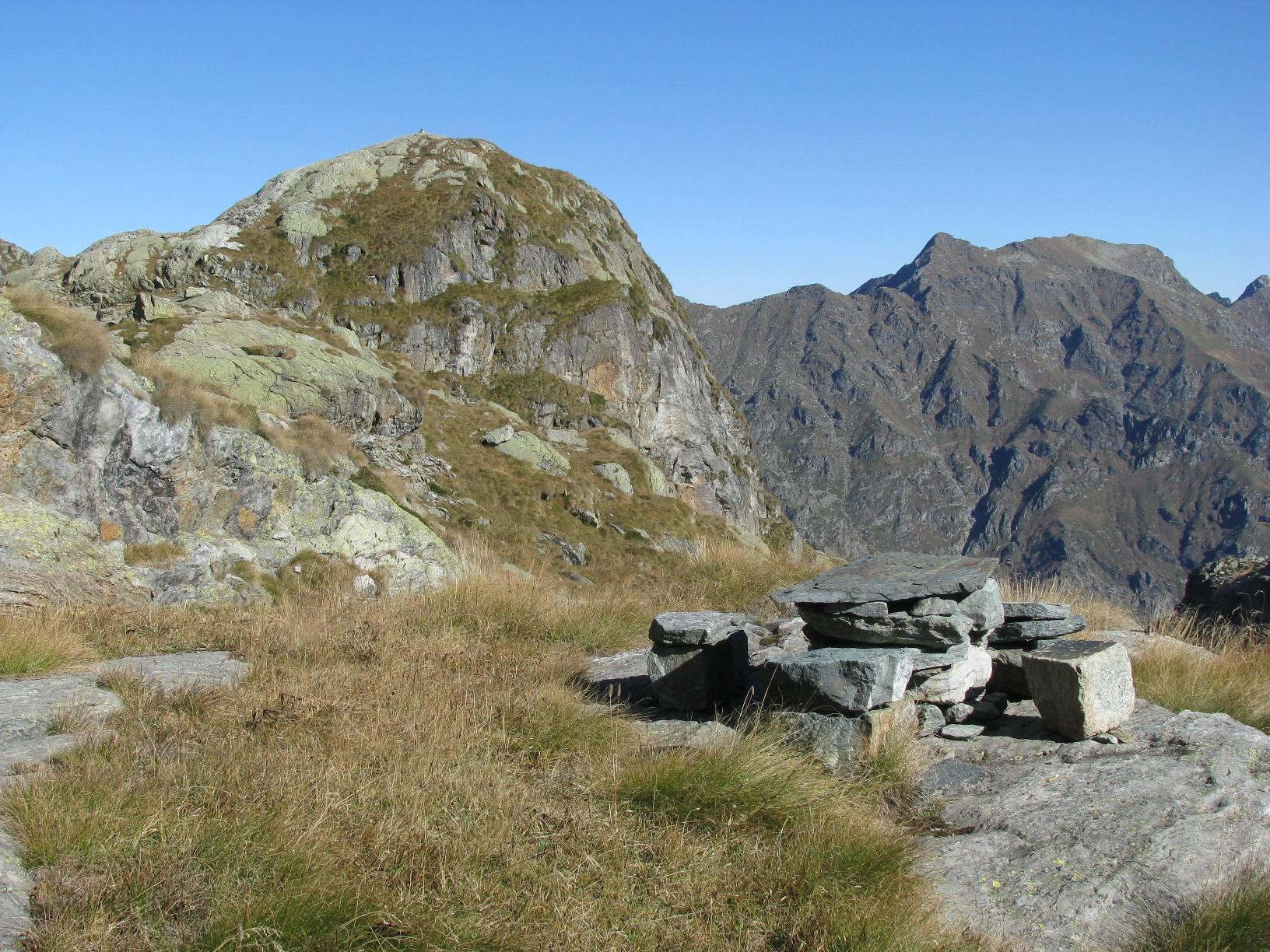 Punta Moriondo al Prà, vista dalla terza baita dell'Alpe Prà