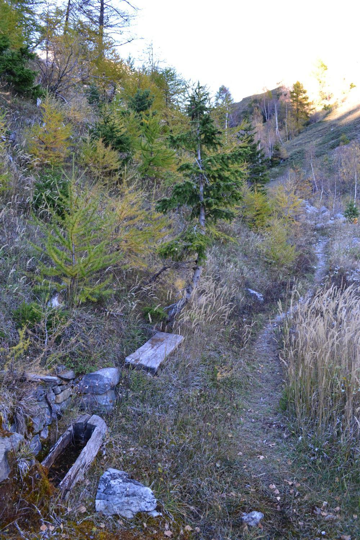 scorcio del sentiero che da Liconi scende a Villotte