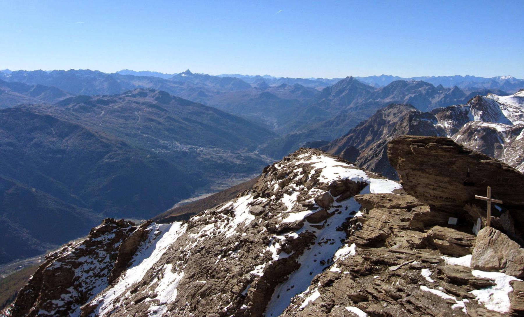 Il Pic Rochebrune lontano e Chaberton