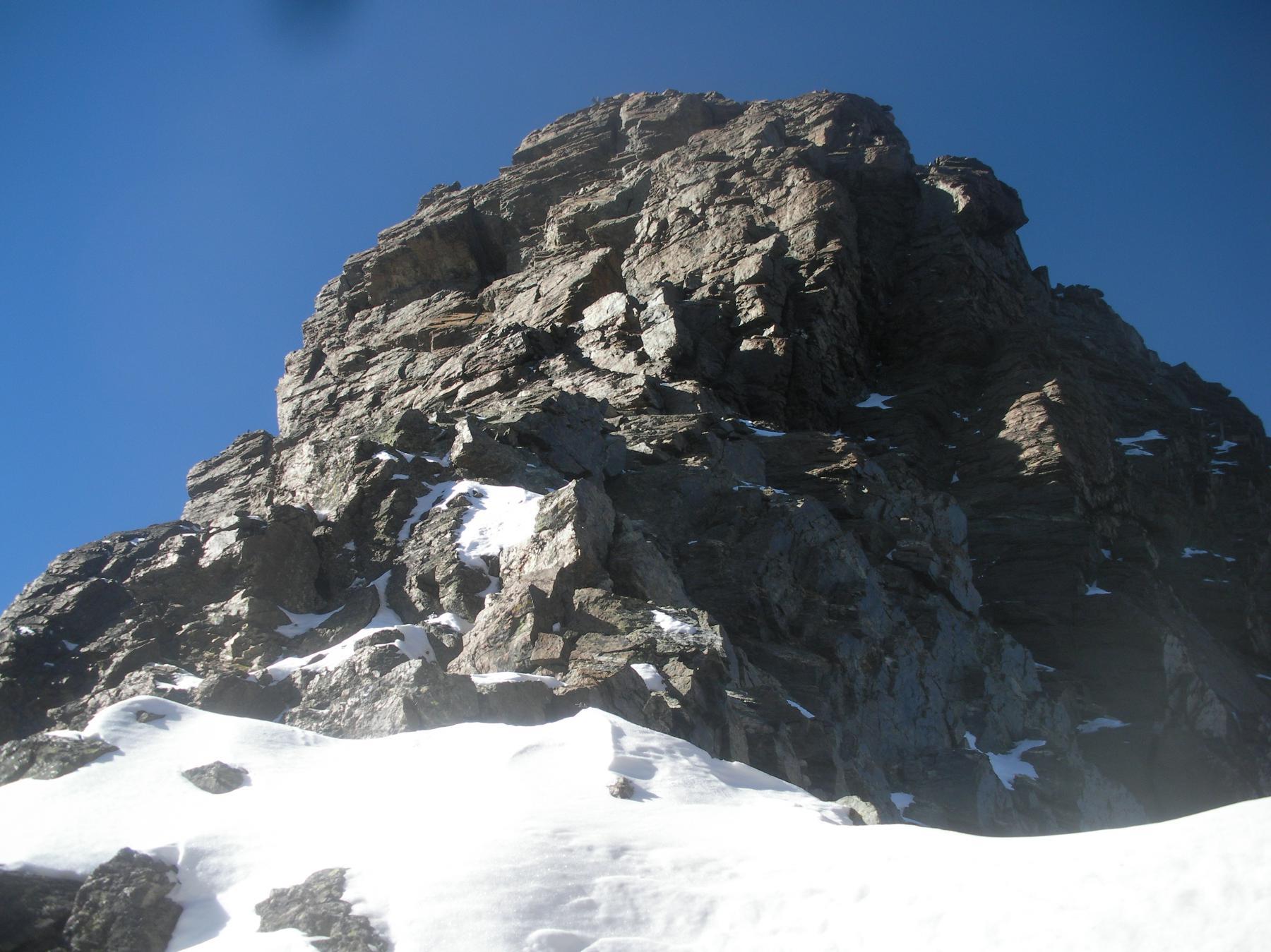 il Viso di Vallanta  da monte del Colletto Pensa..