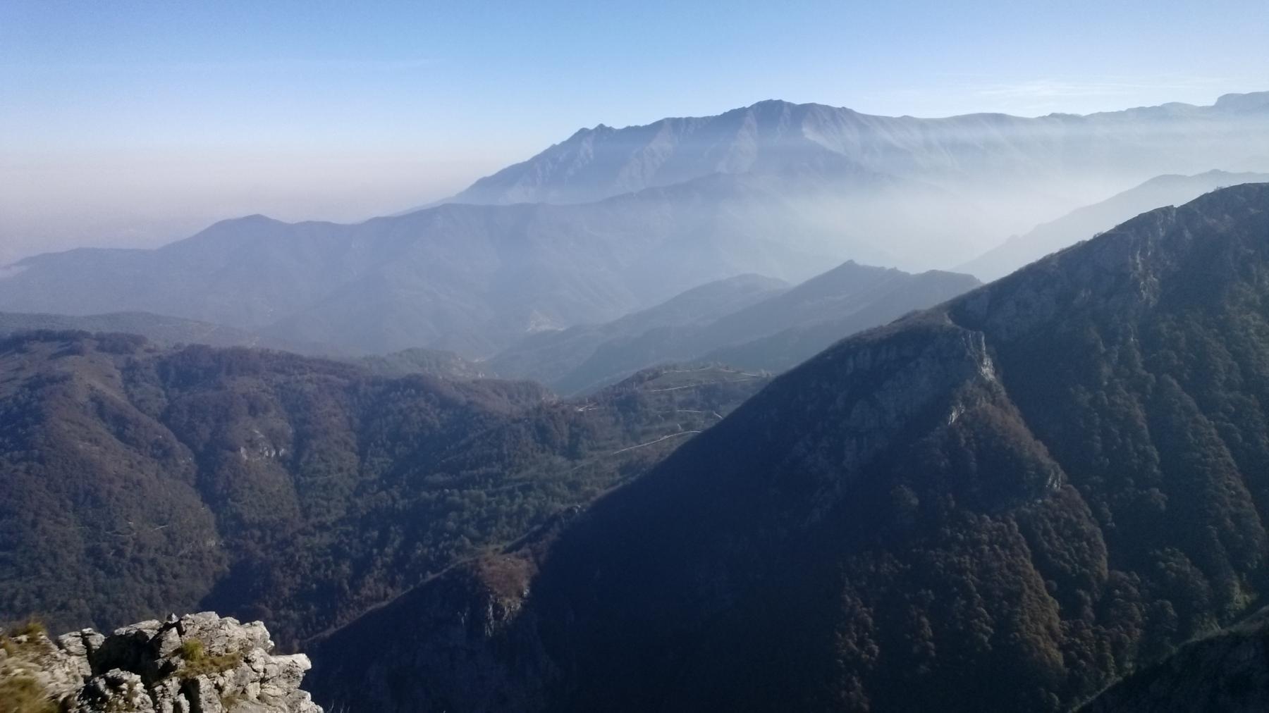 Panorama dal Testas verso Bisalta e Costa Rossa