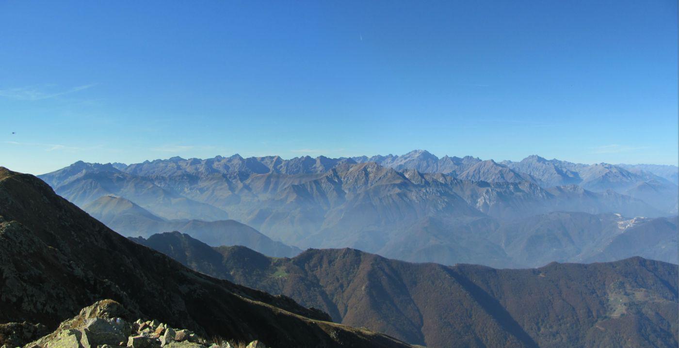 panorama sulle alpi Marittime