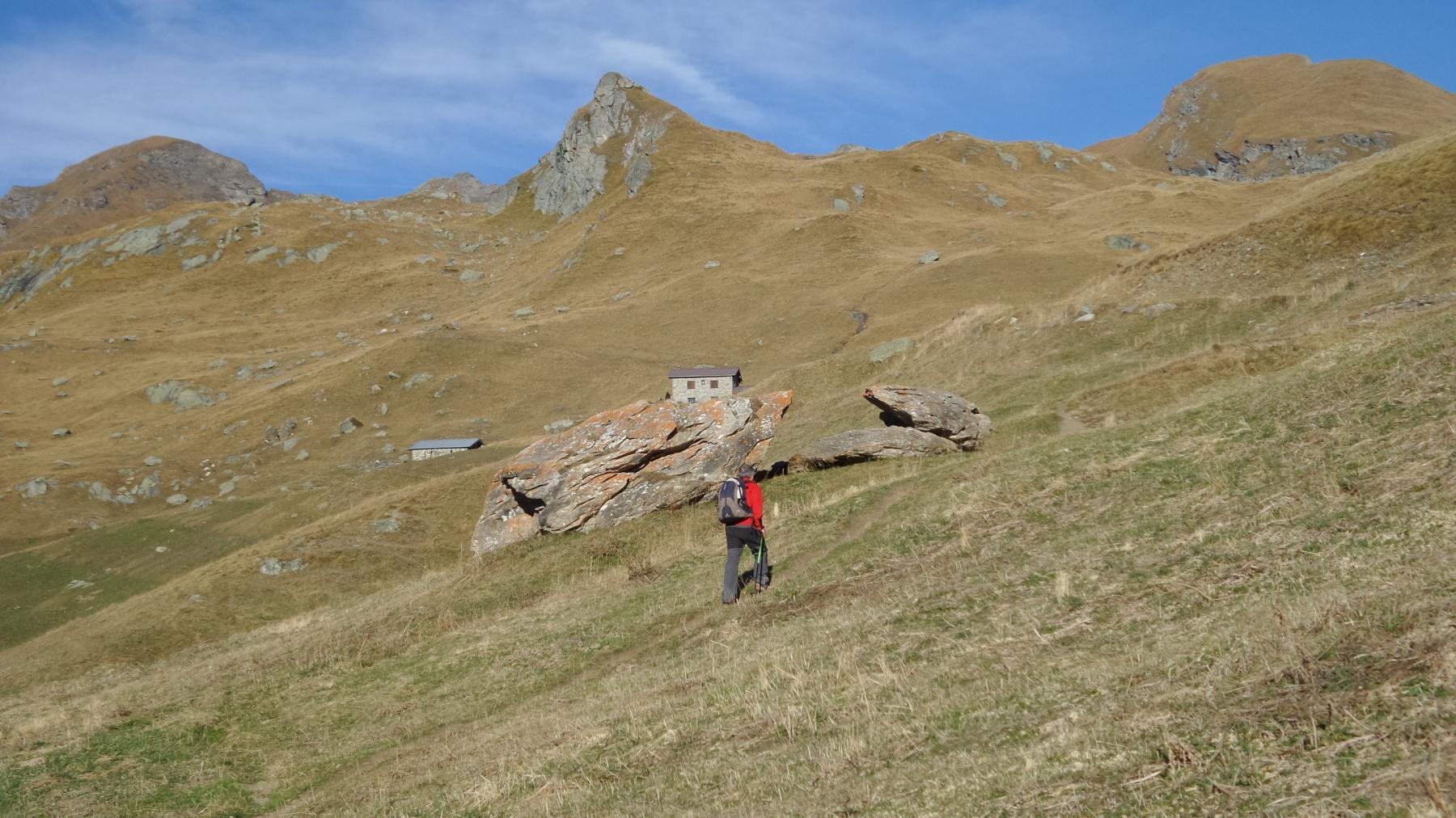 Davide in salita verso l'Alpe Palasina