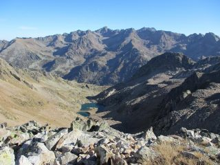 Dalla cima Orgials i laghi omonimi