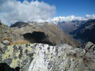 Il Monte Rosa da poco sotto l'anticima