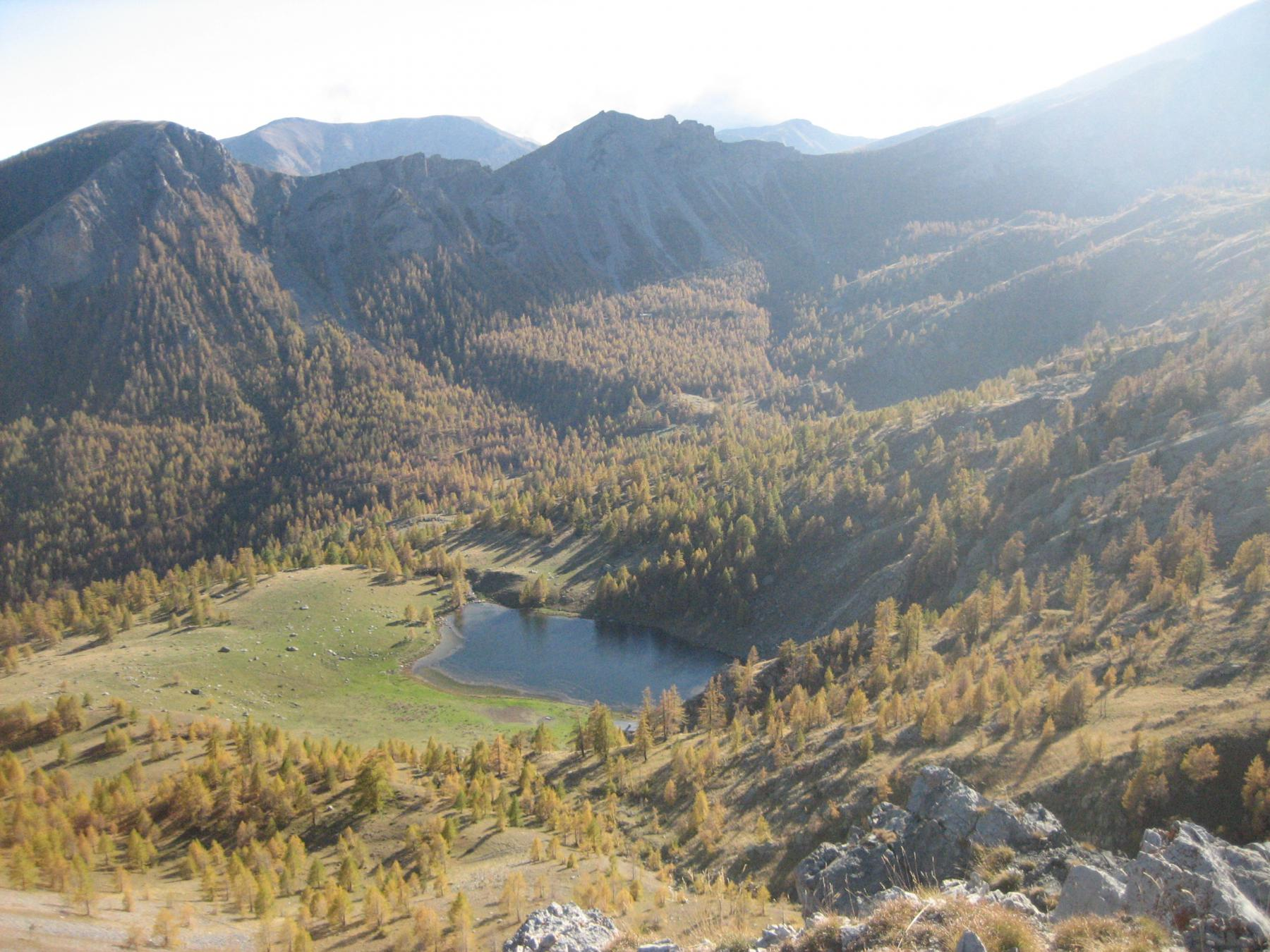 lac des Grenouilles, dalla vetta del Paraquerte