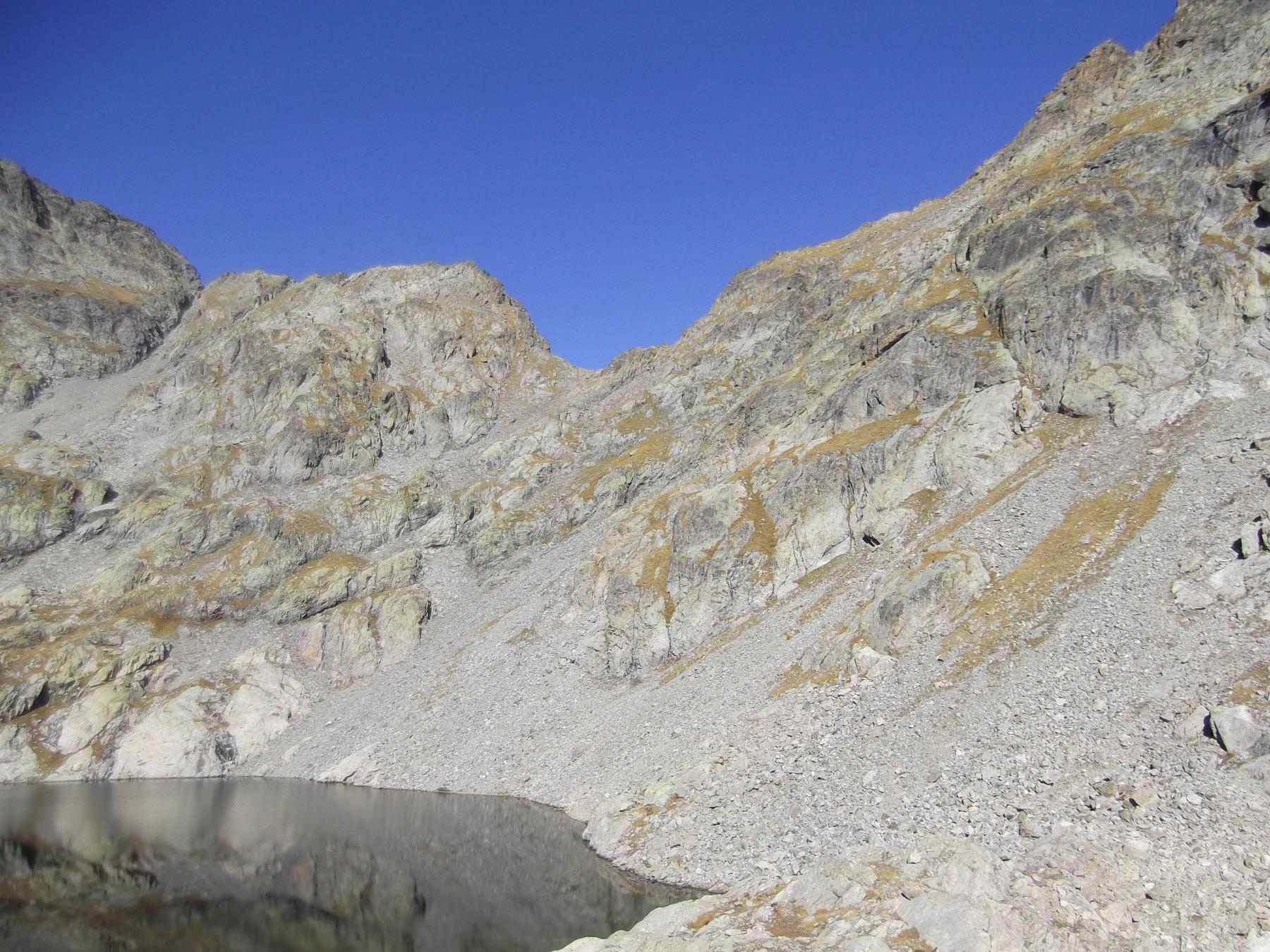 il colletto de la Charnassere dal Lac Gele