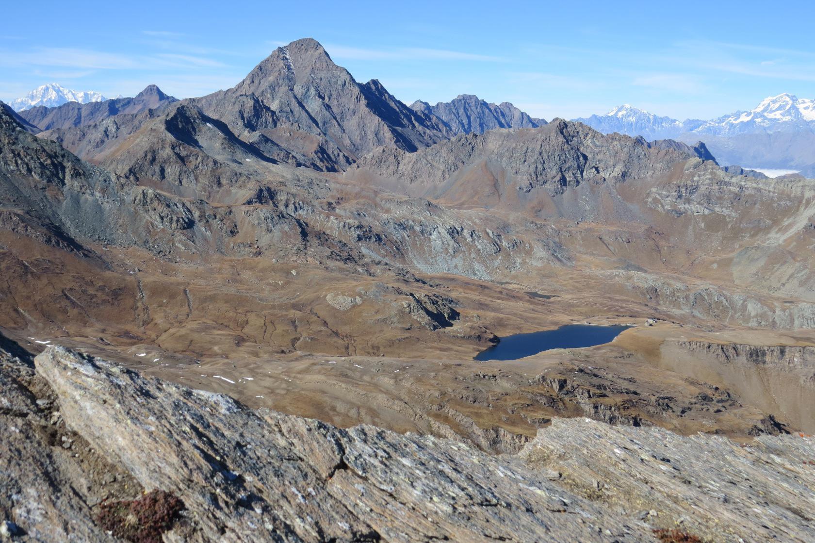 M. Bianco, la Tersiva ed il Lago Miserin