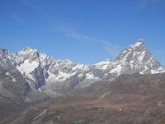 dal colle la vista si apre sulla valle di Cervinia
