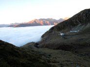 Un mare di nuvole sotto il rifugio