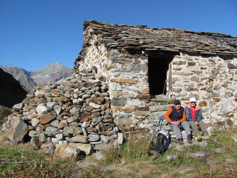 I miei due compagni all'Alpe Camino