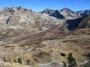 Dalla Tete de Pelevos vista sull'alto vallone di Isola 2000