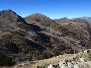 Vista dalla Tete de la Cabane verso Sistron, Merlier, Menas