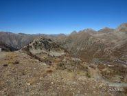 La Tete de Cabane e il colle della Lombarda dalla Tete de Pelevos
