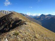 La cresta fin qui percorsa e il Col de Salese