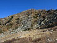 Al  Col de la Roubine con la discesa dalla Testa Mercera