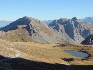panorama verso il col di Valcavera e il monte Omo