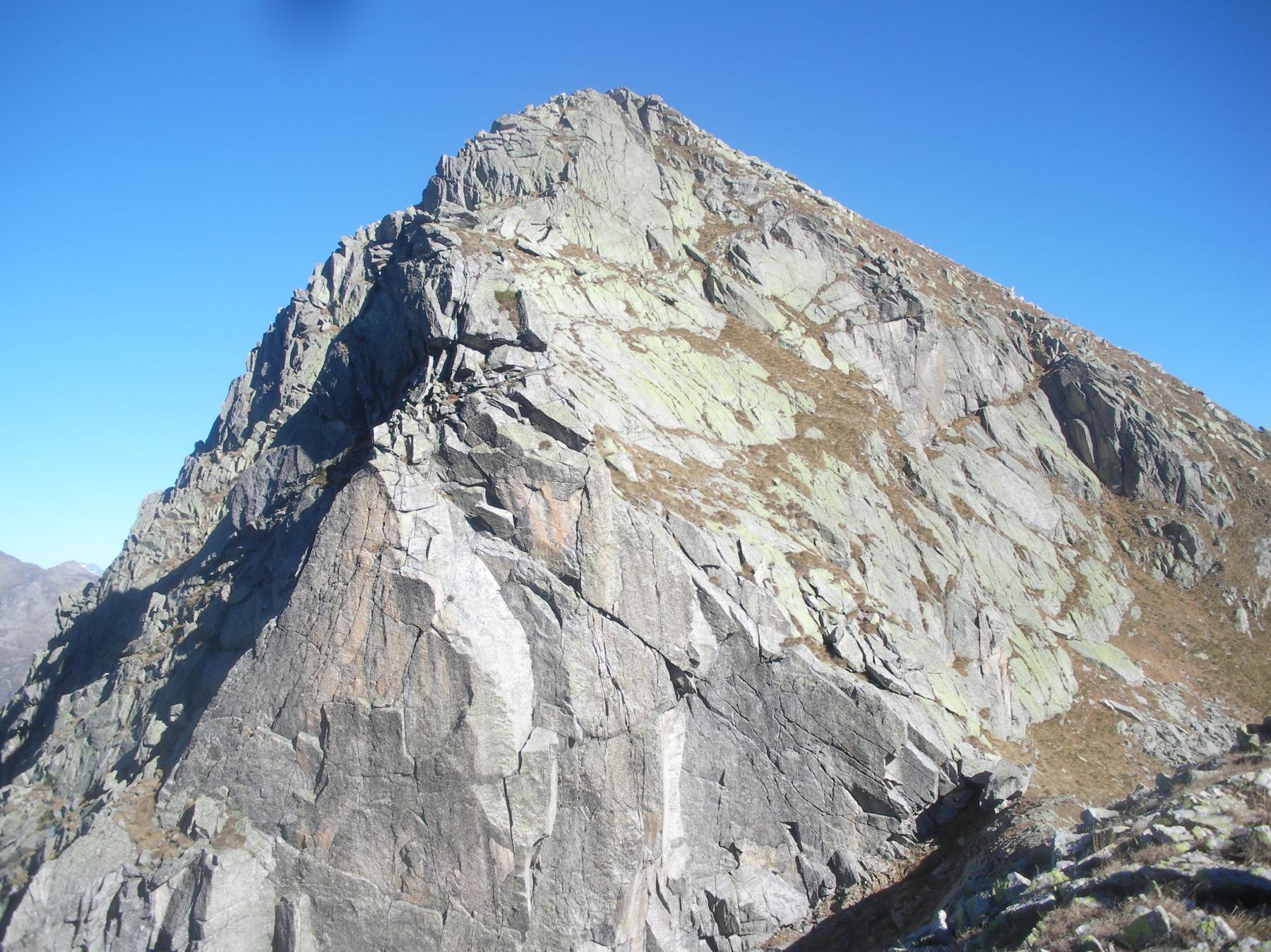 La cresta sud.ovest dal Passo della Moriana..