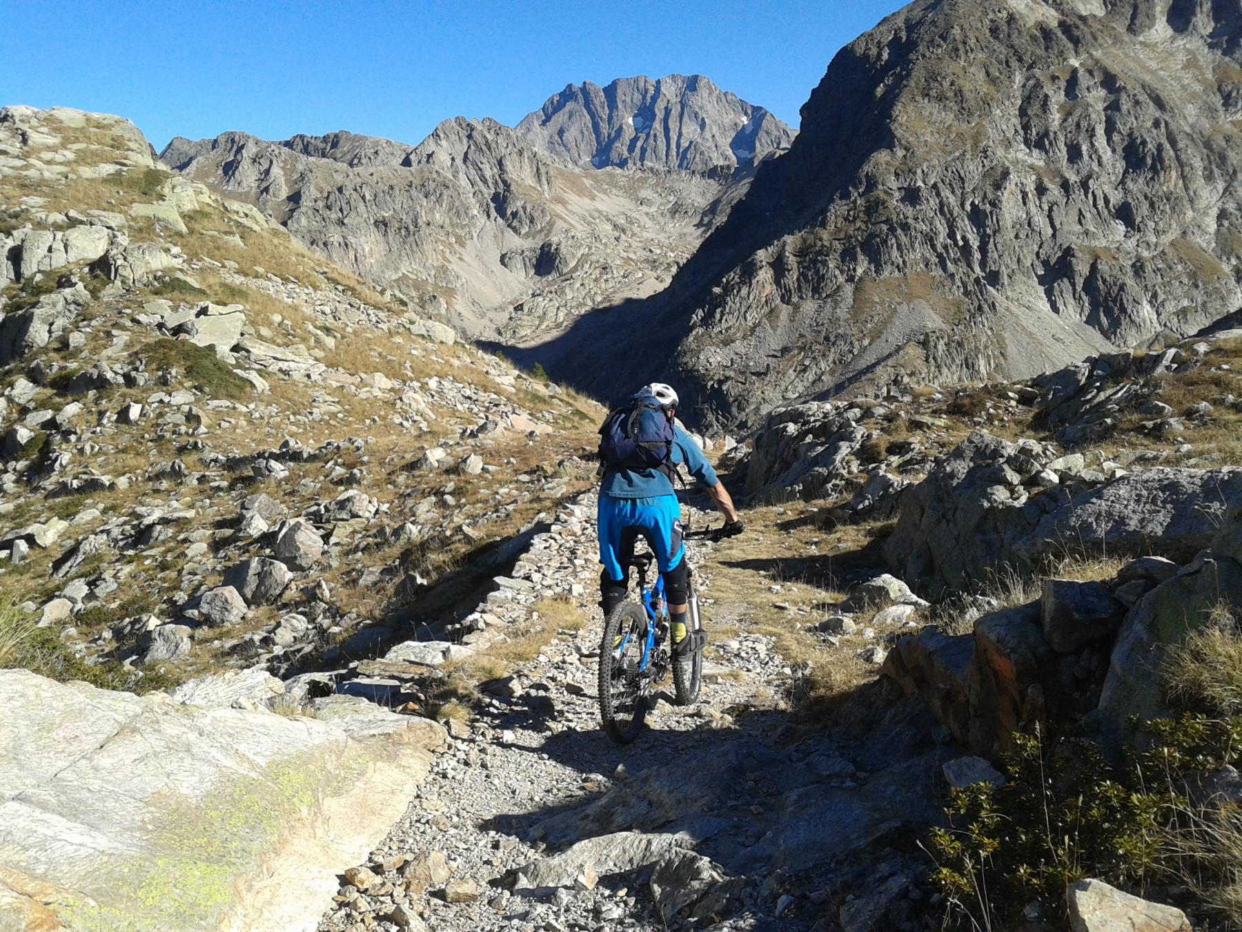 Claus (Lago del) e Laghi di Valscura da Terme di Valdieri, discesa dal Rifugio Questa 2014-10-30