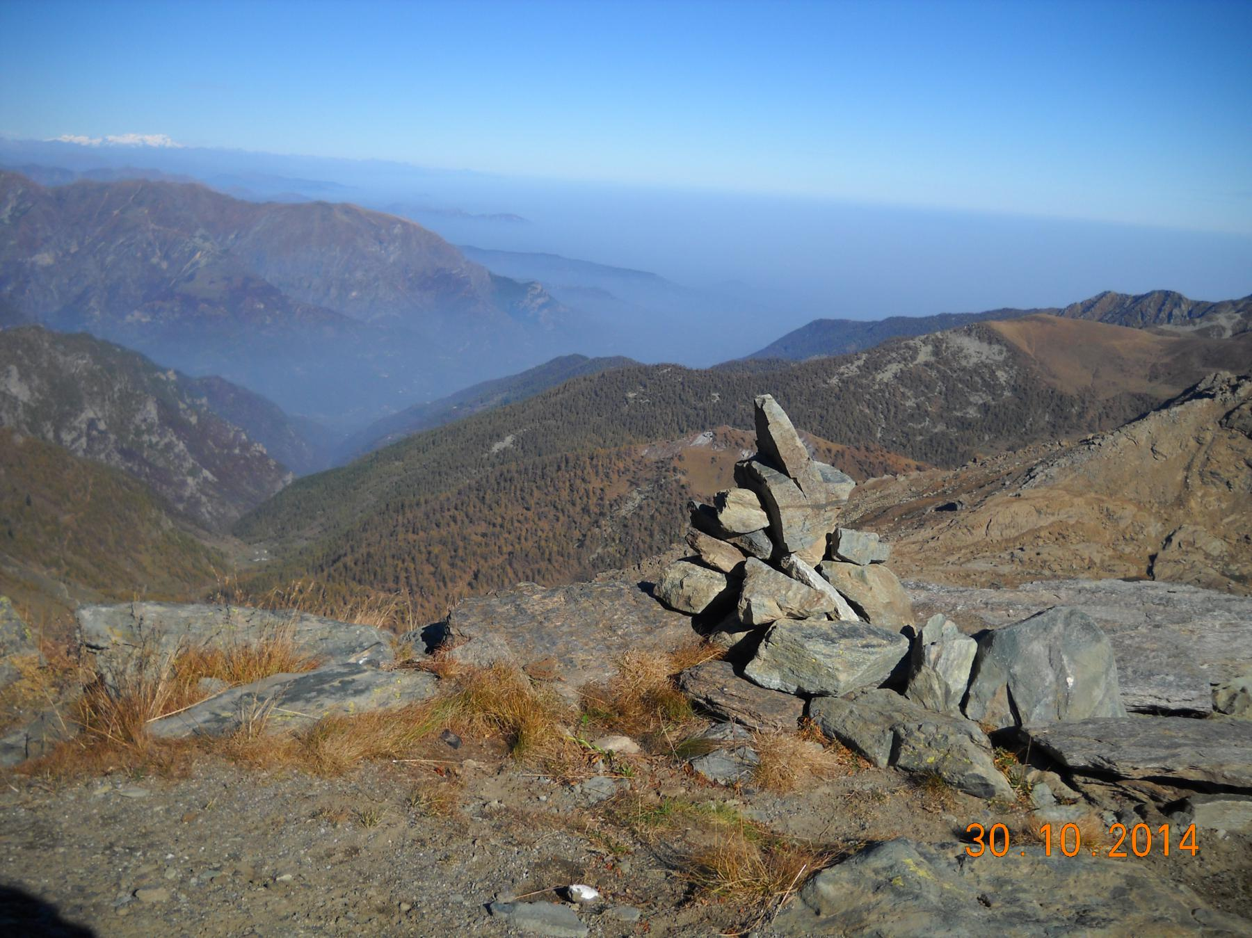 panorama dal colle Manzol 2700mt.