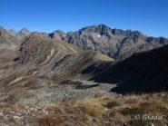 Il crinale che separa il Vallon de Prals dalla Gordolasque con il Grand Capelet che troneggia