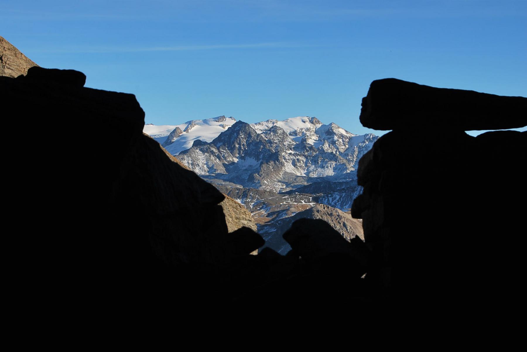 Il Rutor dall'interno dell'Alpe di Crotti