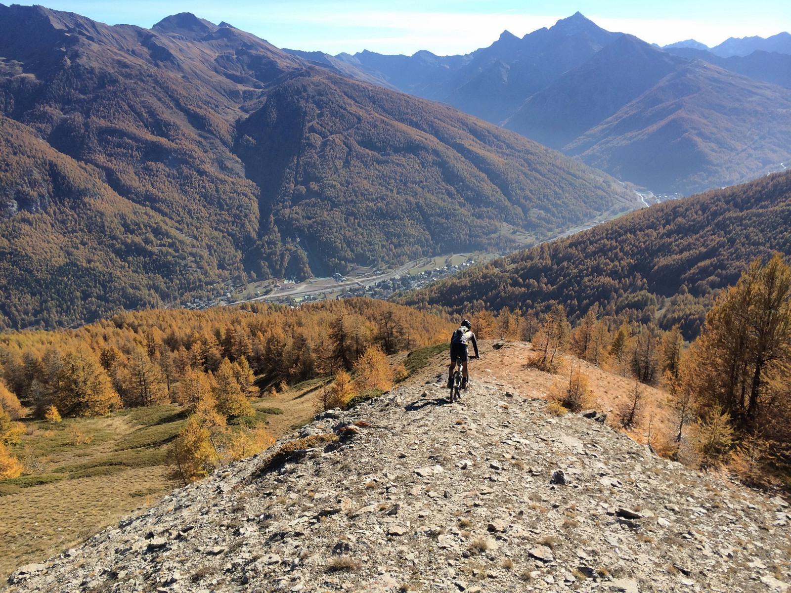 Blegier (Monte)da Pragelato per l'Alpe Giarasson, discesa Dorsale Sud 2014-11-01