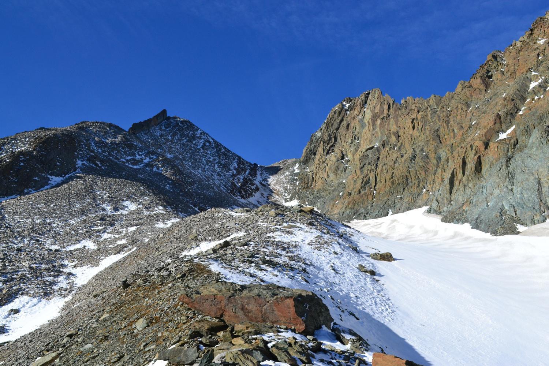 verso il Colle Marani con l'omonima punta a destra e la Gerla a sinistra
