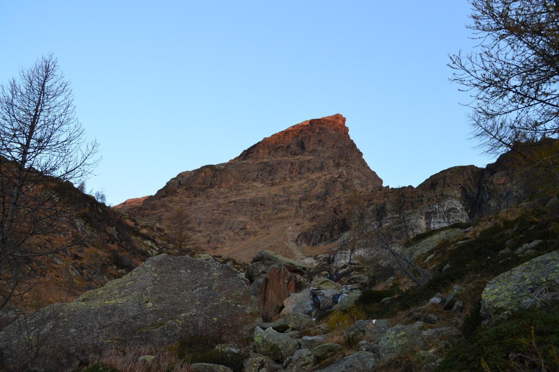 Punta della Rossa salendo al piano