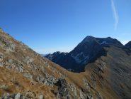 Col d'Eyele e spalla NO del Glacier risalita al ritorno