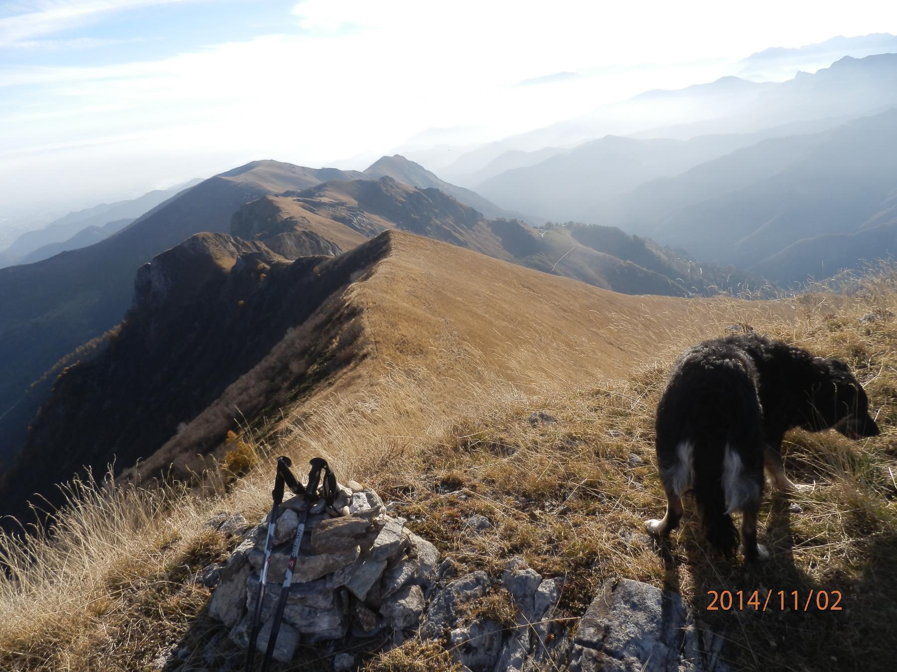 in vetta alla Rocca Cernauda