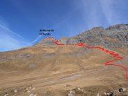 01 - percorso di salita visto dal forte Roncia