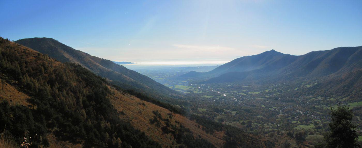panorama sulla val Ceronda e Casternone