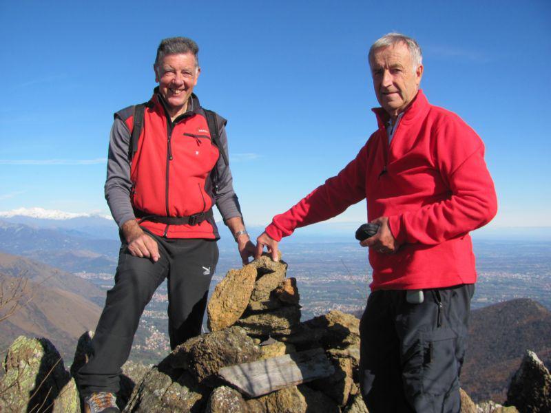 I miei compagni in cima al Monte Lera